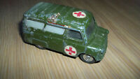 "Corgi Toys 3.2"" BEDFORD UTILECON Diecast GREEN Vintage Army Ambulance"