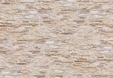 XXL Fototapete Wallprint Stone Wall beige Dekowall 2,5 x 3,6 m Fotoprint Motiv