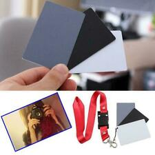 4PCS Digital Colors Balance 18% Gray Card 3in1 Black Grey For Photography W N8Y8