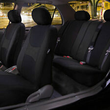 Light and Breezy Car Seat Covers Black Set for Auto