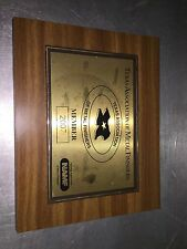 Texas Association Of Metal Finishers Plaque