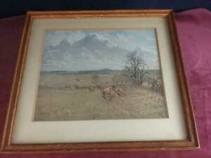 Lionel Edwards THE QUORN FROM BAGGRAVE TO LOWESBY HUNTING PRINT