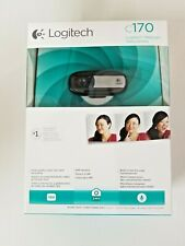 Logitech C170 Webcam New Sealed Black with built in mic