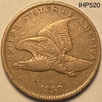 1858 Flying Eagle Cent Penny Small Letters