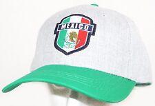 TEAM MEXICO FUTBOL SOCCER ADJUSTABLE GREEN GREY HAT CAP #1 ICON SPORTS NEW 2018