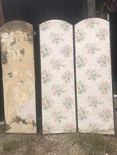 "More details for antique folding screen for restoration 6ft high each panel 22"" wide"