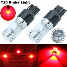 New 7443 7440 T20 80W CREE LED Brake Tail Stop Light Bulbs Red 2000LM Projector