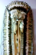 "Genuine Native American Navajo Indian Headdress Tatanka BUFFALO HORN 68"" Trailer"
