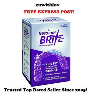 RETAINER BRITE CLEANING TABLETS  32  / 64 / 96 TABLETS *FREE EXPRESS POST*