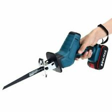 18V Cordless Reciprocating Saw 4 Blades Metal Cutting Wood Tool w/ 1 Battery