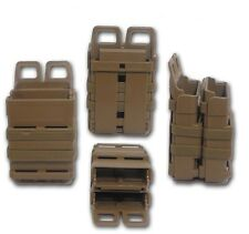 TAN AIRSOFT fastmag Molle Marsupio M16/M4 DOUBLE FAST MAG Clip/5.56mm Magazine