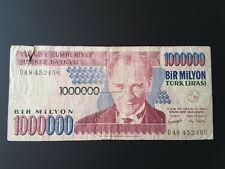 Turkey, 1,000,000 Lira, 1995 P209 Banknote