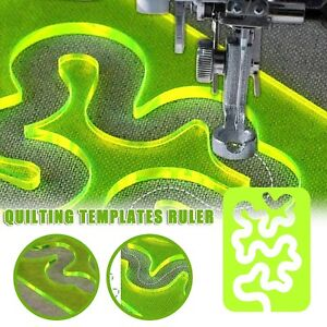 Quilting Templates Sewing Machine Domestic Free Motion Transparent Meander