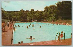 Davis OK~Falls Creek Baptist Assembly Has Largest Pool~Vintage Postcard