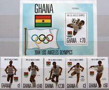 GHANA 1984 1079-83 Block 115 945-950 Olympics Los Angeles Medal Winner ovp MNH