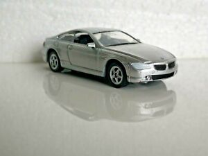 🚓 WELLY NEX DROMADER CAR Scale Model 1:60 1/60 BOX BMW 645 Ci silver