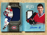 17-18 UD Black Diamond Rookie Booklets Relic Patch #RBR-NS NIKITA SCHERBAK /99