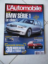 Magazine L'Automobile 691 Peugeot 206 Bmw série 1 Alfa GT 156 JTD Bmw 645 Ci X3