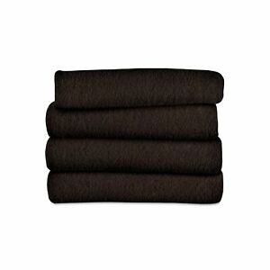 Sunbeam Heated Throw Blanket | Fleece, 3 Heat Settings, Walnut