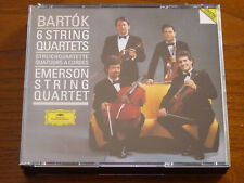 BARTOK: The 6 String Quartets - EMERSON String Quartet - 2CDs - DG