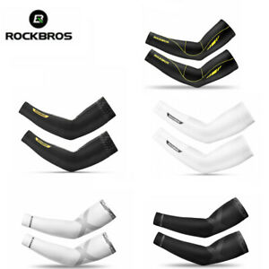 ROCKBROS Summer Cycling Arm Covers Sleeves Sun Protection Ice Silk Oversleeve