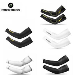 ROCKBROS Summer Cycling Arm Covers Sleeves Sun Protection Ice Silk Oversleeve