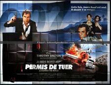 PERMIS DE TUER Affiche Cinéma GEANTE 4x3 WIDE Movie Poster JAMES BOND