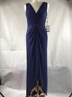 Adrianna Papell Dress Blue Ball Gown Womens Size 10 BNWT