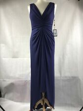 Adrianna Papell Dress Blue Ball Gown Womens Size 10 BNWT