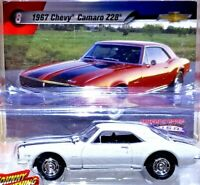 Johnny Lightning MUSCLE CARS USA 1967 Chevy Camaro Z28 White 1/64 Scale Diecast