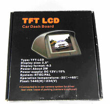 """New TFT LCD 2.5"""" Car Dash Board Monitor with accesories"""