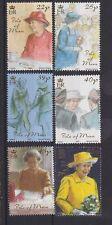 Isle of Man neuf sans charnière UMM Stamp Set 2001 Golden Jubilee QEII 1ST question SG 959-964