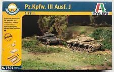 Italeri 7507 Pz.Kpfw.III Ausf.J 1/72 Model Kit NIB
