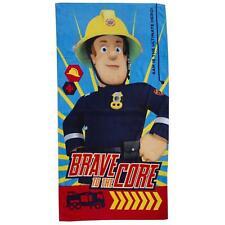 Fireman Sam Brave Bath Towel 70cm x 140cm Kids Bath Towel