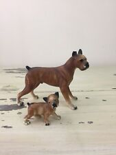 New listing Vtg Dog Figurines - Boxer & Pup, Plastic Hollow, Home Decor, Antique Toys Cute!