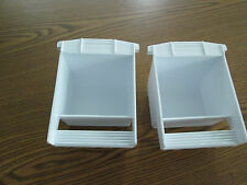 Plastic dish food/water Hoei replacement cup for bird cages made in USA set of 2