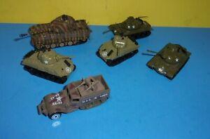 Zylmex T 412 PATTON T 415 Sherman Tank Metal Die Cast  Army USMC military