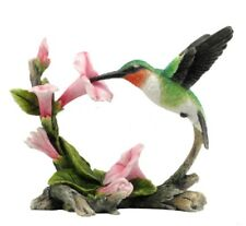 "5.75"" Ruby-Throated Hummingbird Statue Figure Figurine Bird Sculpture Home Decor"