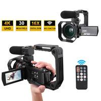 "HDR-AE8 4K HD  3"" Touch Screen 16X WIFI Digital Video Camera Night Vision HOT"