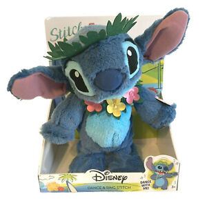 """Disney DANCE & SING STITCH 14"""" Interactive Plush - BRAND NEW 