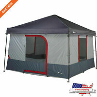 6-Person Instant Tent 10x10 Canopy Conversion Family Portable Camp Shelter