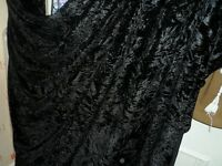 5 MTR QUALITY BLACK ICE CRUSHED VELVET FABRIC..58 INCHES WIDE