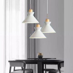 Dining Room Pendant Light Bar Ceiling Light White Lamp Wood Chandelier Lighting