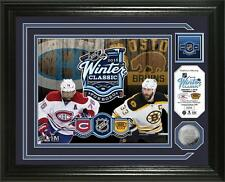 2016 Winter Classic Bruins vs Canadiens Framed Photo & Coin -Last One #0013/5000