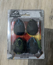 Jurassic World 4 Count Dinosaur Hatching Eggs NEW