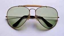 Vintage Ray Ban B&L USA AVIATOR Ambermatic W1665 62[]14 Sunglasses gold pilot