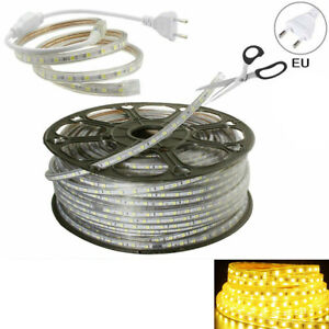 1M-25M 5050 SMD LED Strip Rope Tape Light Xmas Lamp Home Outdoor Waterproof 220V