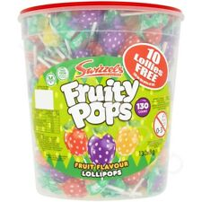 Swizzels Fruity Pops Lollies Lollipops Kids Party Favours Sweets Full Tub of 130