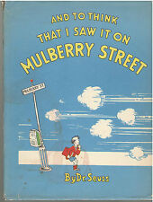 Dr Seuss And to think that I saw it on Mulberry Street 13th Printing DJ
