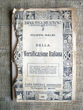Della versificazione italiana - Filippo Balbi - Biblioteca del popolo